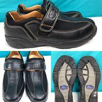 Mens DR COMFORT 'Douglas' 6610 Black Leather Diabetic Oxford Shoes SIZE 11 Wide