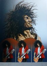 """RONNIE WOOD """" SLASH """" 1994 HAND SIGNED BY BOTH ARTISTS ROLLING STONES"""