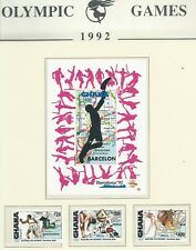 Ghana - 1992 Olympic Games - Complete Set & Miniature Sheet - Un-mounted mint