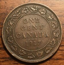 1917 Canada One Cent King George V Coin Condition VF