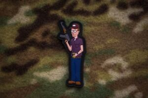 Dale Gribble King Of The Hill 3D PVC Rubber Morale Patch Pocket Sand