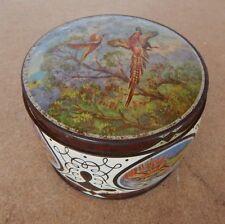 Vintage Thornes Toffee Tin Circular Pheasants in Flight 11cm diameter,