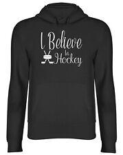 I Believe in Hockey Mens Womens Hooded Top Hoodie