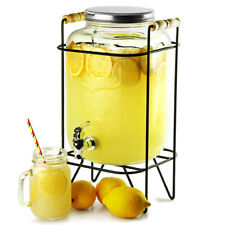 Yorkshire Mason Jar Drinks Dispenser with Stand 8L x2 | Mason Beverage Dispenser