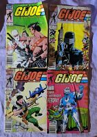 G.I. Joe A Real American Hero Lot Comics #52 53 54 58 Marvel 1980s Readers