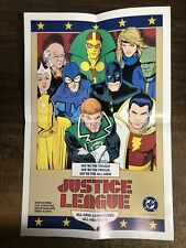 Vintage 1986 Dc Comics Justice League International Folded Promo Poster #1 1987