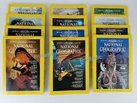 VINTAGE Lot of 12 Jan to Dec 1983 National Geographic Magazines.1 year Complete