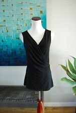 Tommy Bahama Womens size S Shirt Top V-Neck Faux Wrap Criss Cross Stretchy
