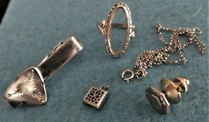 A Small Lot of Vintage 925 Sterling Silver Jewelry w/Cultured Pearl - 16.6 grams