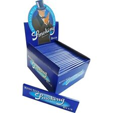 Smoking Rolling Paper King Size Blue  Box Of 50 Booklets