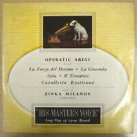 "OPERATIC ARIAS SUNG BY ZINKA MILANOV ALP 1247 12"" LP ALBUM VG"