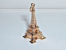 VINTAGE 18k YELLOW GOLD 3D PARIS EIFFEL TOWER PENDANT CHARM