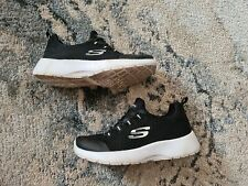 Sketchers Girls Memory Foam Size 12 Trainers. Black and White