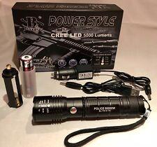 CREE LED Taschenlampe SWAT, extrem hell mit 18650 Akku und Ladegeräten Police