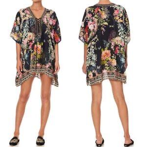 Brand New Camilla Hampton Hive Short Lace Up Kaftan RRP $579