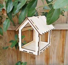 Hanging Birdhouse, Wooden Native Bird Feeder, Kid's Gift Present, rustic