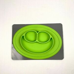 EZPZ The Mini Mat Baby Food Suction Placemat and Plate One Piece Silicone GREEN