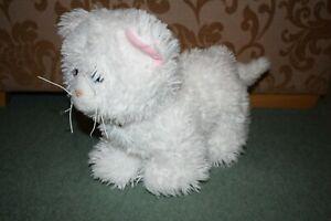 Build A Bear Promise Pets Cat White BAB blue eye plush soft toy