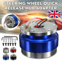 Universal Steering Wheel Quick Release Hub Adapter Snap Off Boss Kit 6 Blue  -