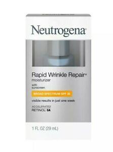 Neutrogena Rapid Wrinkle Repair Face & Neck Moisturizer-SPF 30-1 fl oz exp.11/22