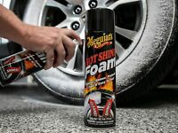 Meguiar's Hot Shine Tire Foam – Aerosol Tire Shine for Glossy, Rich Black Tires