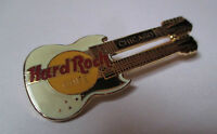 Broche Hard Rock Cafe Chicago - guitare double manche