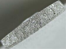White Gold Wedding Cluster Band Rg9489Wd Modern Pave Diamond Right Hand Ring 18K