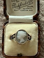 Antique Victorian 9ct Gold Cameo Ring