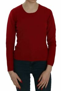 MILA SCHON CONCEPT Sweater Cashmere Red Round Neck Pullover Top s. S RRP $600