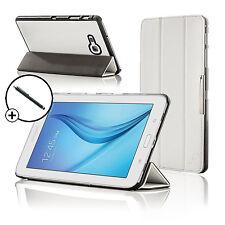 Pelle Bianca Pieghevole Smart Custodia Cover Samsung Galaxy Tab E Lite 7.0 Stilo