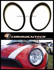 MK1 R50 R52 MINI Cooper/ONE BLACK Head Light Surrounds for non-Xenon Headlight