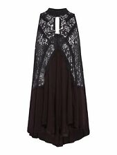 Free People Heart High Neck Lace Tunic Black Size L rrp £90 DH078 MM 05