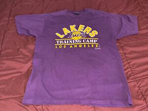 Vintage Los Angeles LA Lakers 1980's Training Camp T-shirt Extra Large XL Salem