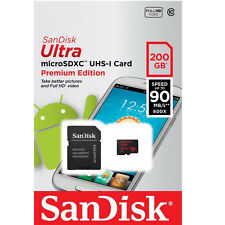 SanDisk 200GB Ultra UHS-I microSDXC Class 10 Memory Card- SDSDQUAN-200G-A4A