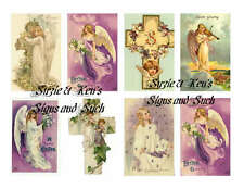 Easter Angel Stickers Vintage Victorian Postcard Reproductions 16 Total