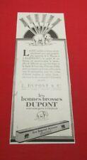 ADVERTISING PUB PUBLICITE ANCIENNE ADVERT 2.3 J. DUPONT & CIE LES BONNES BROSSES