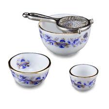Reutter porcelana frase Schüssel goldzwiebel Acous Bowl set muñecas Tube 1:12