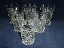 6 edele Wassergläser - Biergläser - Schleuderstern - Kaspar Bleikristall vintage