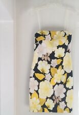 Cotton yellow/black bodycone dress by Cache, size 2