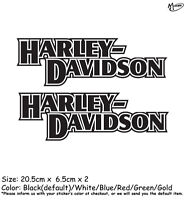 2 Pcs Harley Davidson Motorcycle Reflective Stickers Outline Decals  Best Gifts