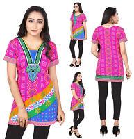 UK STOCK - Women Casual Indian Short Kurti Tunic Kurta Top Shirt Dress 77B
