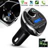 Wireless Car Bluetooth FM Transmitter MP3 Radio Adapter Car Fast USB Charger New