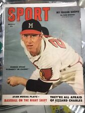 Sport Magazine Aug 1953 Warren Spahn Milwaukee's Mr. Strikeout