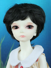 "6-7"" Black Synthetic Mohair Short Wig Yo-SD BJD SD Doll"