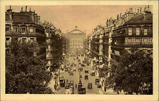 PARIS France CPA ~1920 Verkehr Autos Nähe Oper Platz Carte Postale France
