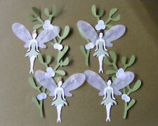 Mistletoe Fairy Fairies with wings Woodland Garden Die Cuts (Toppers)