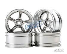 MST Flat silver Kairos RC 1/10 Drift Car Wheels offset 11 (4 PCS) 102038FS New