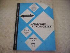 REVUE TECHNIQUE PEUGEOT 504 DAF 44