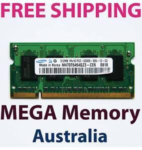 Samsung 512MB DDR2 PC2-5300 Sodimm 667MHz LAPTOP Memory