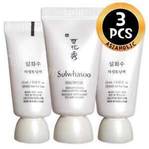 Sulwhasoo Snowise Brightening Exfoliating Mask 15ml x 3pcs (45ml) Gel Newist Ver